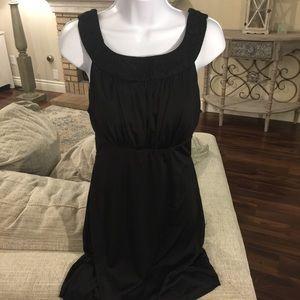 Black dress w/ lace trim